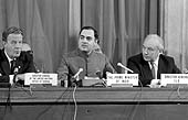 International Labour Conference, 71th Session, Geneva, 17 June 1985, visit of the Hon. Rajiv Gandhi, Prime Minister of India
