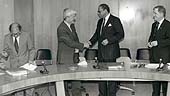 The Commission of Inquiry on South Africa is sworn in, Geneva, 21 October 1991.