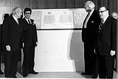 Inauguration of the ILO building in Route des Morillons, 1974.